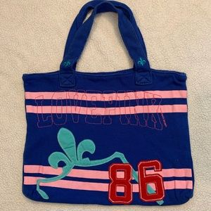 VS PINK LOVE PINK Blue Soft Thermal Tote